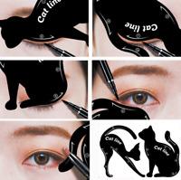 Lot de deux 2 guides aide traçage eyeliner eye liner ombre à paupières facile
