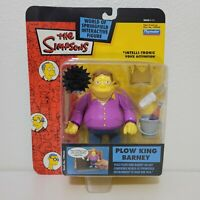 Playmates The Simpsons PLOW KING BARNEY Figure World of Springfield Series 11