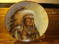 """Vintage """"Strength of the Sioux"""" Council of Nations Series Collectible Plate 1990"""