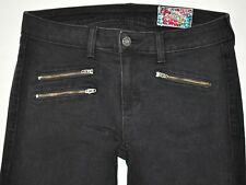Siwy Denim Black Skinny Jeans Size 29 X 28 3/4 Mickie Magic Man Zip Pockets