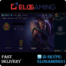 League of Legends Level 30 | LoL smurf | Unranked | 20.000+ BE | Account NA