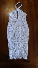 Women's Ivory Lace layed Bodycon dress s6 BNWOT free post E24,e75