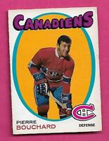 1971-72 OPC # 2 CANADIENS PIERRE BOUCHARD ROOKIE GOOD CARD (INV# D7260)
