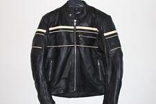 BKS Cruiser Stripe men's leather motorcycle jacket size UK 40''