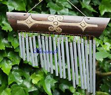 - Feng -Shui -Klangspiel-Windspiel-Klangharfe-Bambusschild -Aluröhren -
