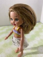 Kelly BARBIE DOLL LITTLE SISTER CHELSEA Brown Hair Green Eye Skirt & Top