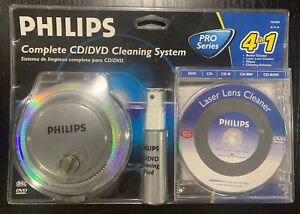 New/Sealed Philips All You Need To Clean CD DVD 4 In 1 Complete Cleaning System