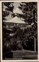 Oberbärenburg Sachsen Erzgebirge 1953 Verlag Brück & Sohn Dorfansicht gelaufen