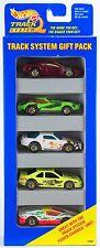Hot Wheels Track System 5 Pack Gift Set Gold 7 Spokes - Ferrari Corvette 1996 B1