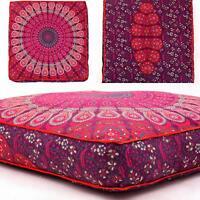 Indian Mandala Floor Pillow Cushion Seating Throw Cover
