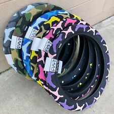 "CULT BMX VANS BICYCLE TIRE 20 X 2.40"" BLUE GRAY GREEN YELLOW PURPLE PINK CAMO"