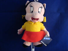 "WARNER BROS STUDIO STORES-PETUNIA PIG-9""X6""-BEAN PLUSH-BOWS IN HAIR-NEW/TAGS"