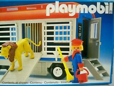 K190517 CIRCUS LION TRAIN CAR SET MISB MINT IN SEALED BOX PLAYMOBIL 3514 VINTAGE