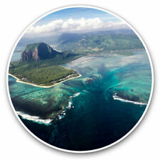 2 x Vinyl Stickers 25cm - Underwater Waterfall Mauritius Cool Gift #12354