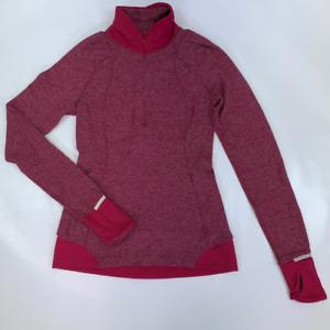 Lululemon Womens Pullover Top Shirt Purple Long Sleeve Mock Neck Thumb Holes 4