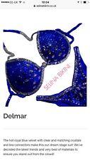 Selina concorrenza Bikini Royal blu, reggiseno coppa 34D, in basso Taglia 8/10
