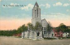 Cedar Falls Iowa~Methodist Episcopal Church~Block~1916 Postcard