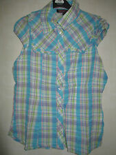 Unbranded Cotton Check Fitted Tops & Shirts for Women