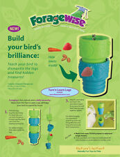 Pet Bird Parrot Toy Natures Instinct Foraging Turn & Learn Logs