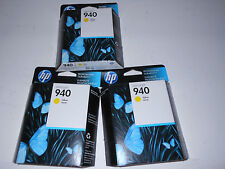 Lot of  3  x Original Genuine HP 940 Yellow   ink cartridge  C4905 AC
