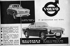 1963 Volvo P1800 & 122S Original Very Rare Ad