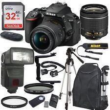Nikon D5600 Black DSLR Camera w/ 18-55mm VR + 32GB Top Value Bundle