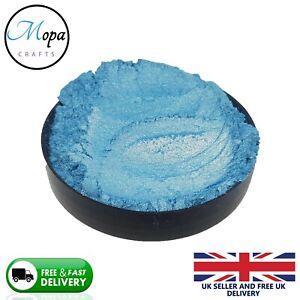 Cosmetic Mica Powder Aqua Blue Pigment Soap Bath Bombs  Nail Art Resin