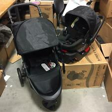 Britax B-Free Baby Travel System with B-Safe Ultra Infant Car Seat in Midnight