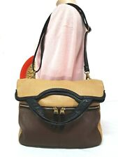 FOSSIL ERIN CB MULTI BROWN BLACK LEATHER CROSSBODY SHOULDER BAG ZB6405