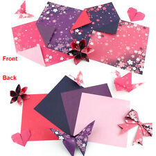 60PCS Origami Paper Double Sides Cherry Blossom Folding Paper DIY Useful