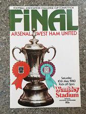 1980 - FA CUP FINAL PROGRAMME - ARSENAL v WEST HAM UTD - V.G CONDITION
