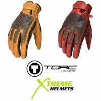 Torc Sunset Gloves Mid Length Retro Motorcycle Glove Leather XS-3XL