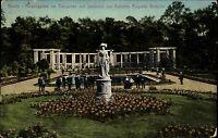 Berlin color AK 1911 Rosengarten im Tiergarten Denkmal Auguste Victoria Verlag