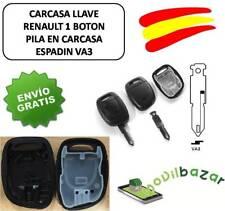 LLAVE CARCASA RENAULT R1 CLIO SCENIC TWINGO MEGANE I 1 BOTON VA3 PILA EN CARCASA