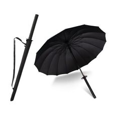 Paraguas Con Forma de Katana Ninja japonés espada mango largo Manual Japón lluvia Parasol