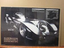 Vintage 1989 DC Comics Batman The batmobile poster 7394