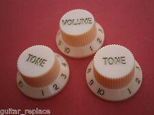 Knobs Crema Stratocaster Cream Potenciometro Botones Poti Knopfe Boutons Strato