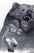 Chicago Bears Matt Forte sketch drawing poster ART
