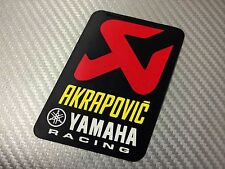 1 Adesivo Sticker AKRAPOVIC Yamaha Alte Temperature High Temperatures