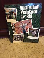 1989 DUKE COLLEGE FOOTBALL MEDIA GUIDE BOX9