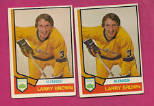 2 X 1974-75 OPC # 271 KINGS LARRY BROWN ROOKIE EX CARD (INV#3376)