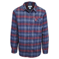 Columbia Men's Omniwick Red Blue L/S Plaid Flannel (S02)