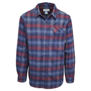 Columbia Men's Omniwick Red Blue L/S Plaid Flannel (S02)