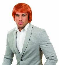 Mens Ginger Chisel Wig 80s Punk Scotsman Adults Fancy Dress Costume Accessory