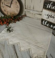 Country Cottage Lace & Buttons Ivory Long Table Runner