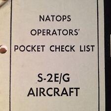 Grumman Tracker S-2E and S-2G Operator's Pocket Checklist