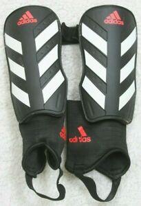 "Adidas Black White Soccer Shin Guards Medium 5'3""-5'9"" 12 Inches Long NOSCAE"