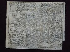 1747 MAP FRANCE WITH ACQUIRED TERRITORIES IN GERMANY NETHERLANDS BY JEFFERYS