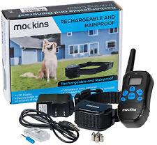Mockins 990' Ft Remote Rainproof Dog Collar Rechargeable Vibration Shock Collar