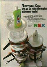 Publicité ancienne produit vaisselle Rex 1970